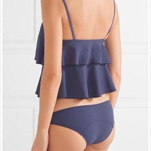 Lisa Marie Fernandez Swim - Lisa Marie Fernandez Imaan ruffled blue bikini